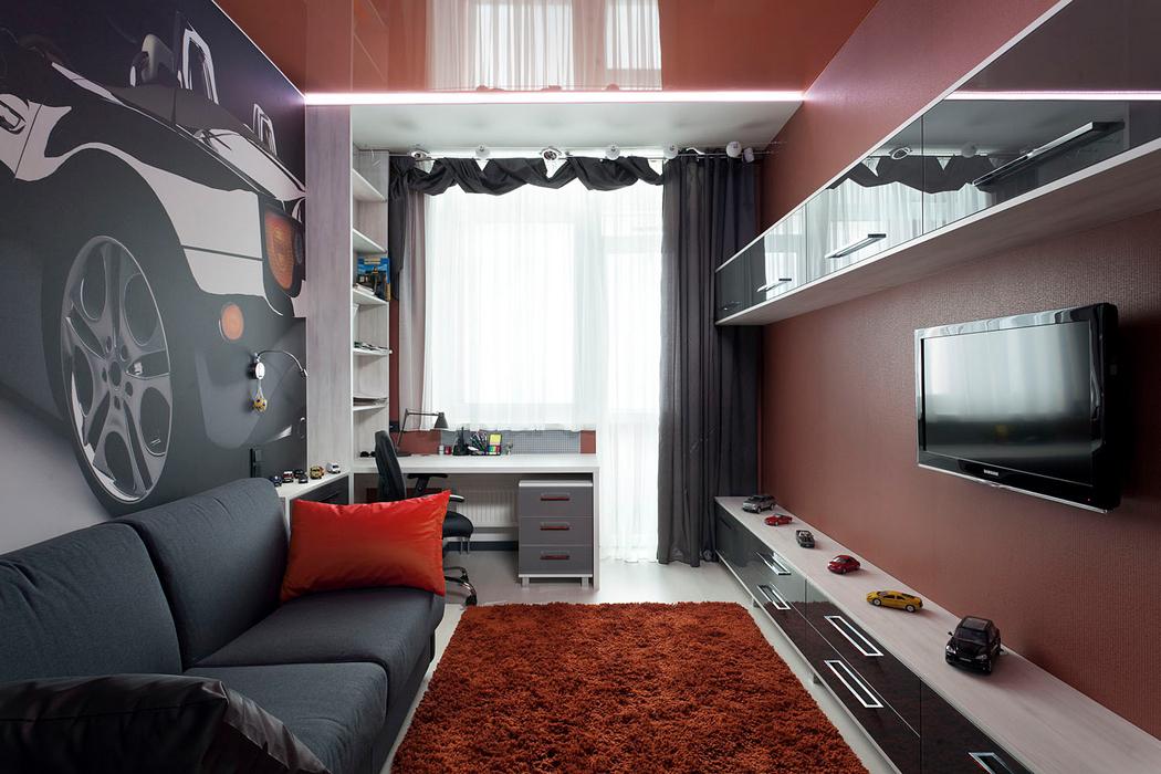 Дизайн комнат с балконом для мальчиков..