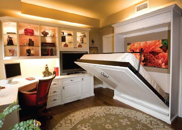 Спальня на кухне дизайн