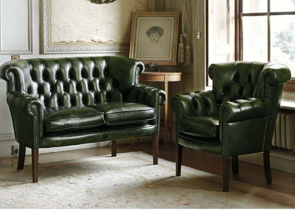 Стиль декорации кресел и диванов Честерфилд (Сhesterfield).