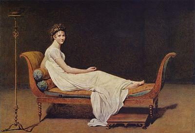 Ж.Л. Давид. «Портрет мадам Рекамье».