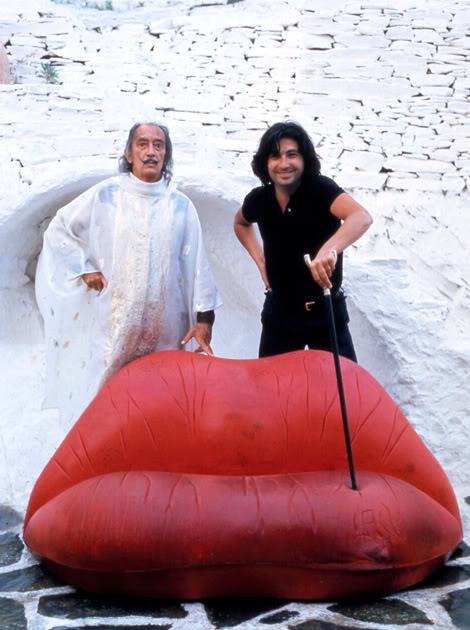 Сальвадор Дали и испанский дизайнер Оскар Тускетс Бланка.