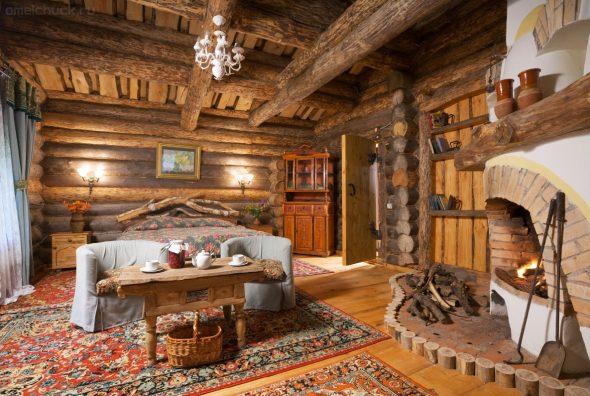 В мебели кантри имеются черты сельской простоты и даже грубоватости, но с правильными и четкими формами.