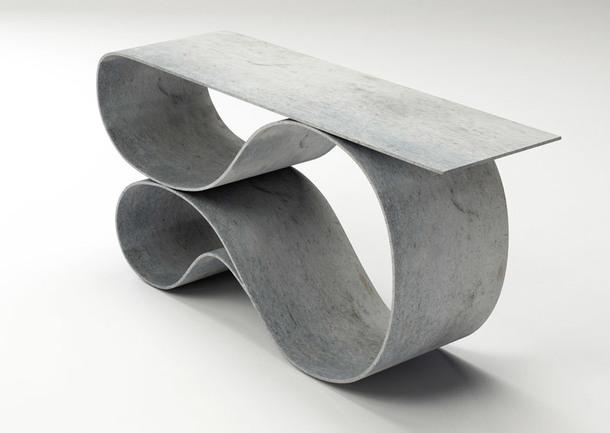 Нил Ароновиц делает из бетонного полотна мебель, которая выглядит легкой и изящной, несмотря на немалый вес