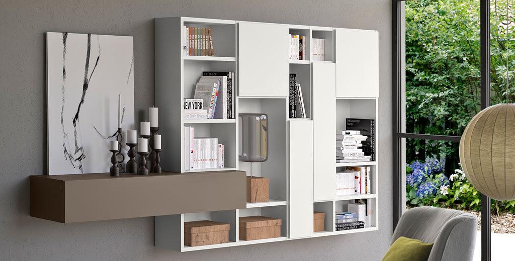 Шкаф книжный spazioteca купить в минске * мебель италии.